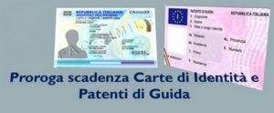 NUOVA PROROGA VALIDITA' CARTE D'IDENTITA' AL 30 APRILE 2021