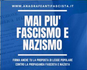RACCOLTA FIRME PROMOSSA DAL COMITATO ANAGRAFE ANTIFASCISTA